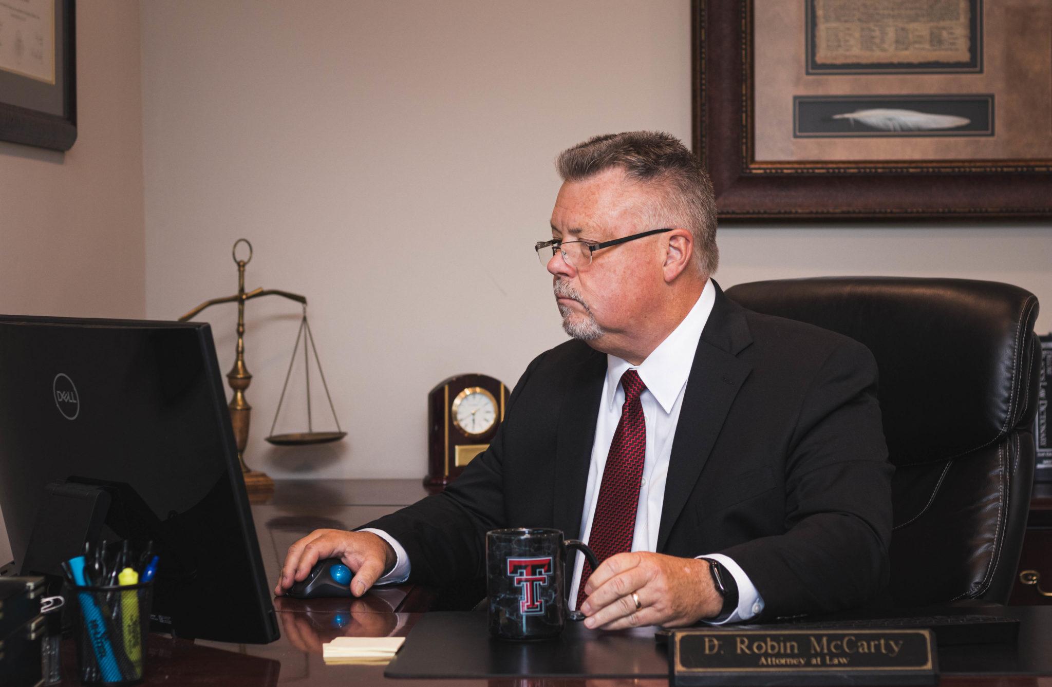 Robin McCarty represents defendants in Texas